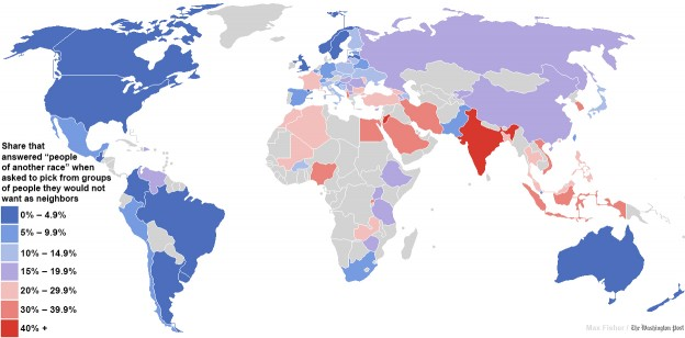 The world's most inflammatory map on racism