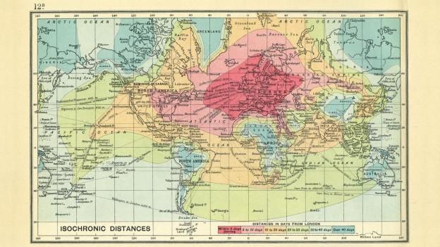 Isochronic World Map